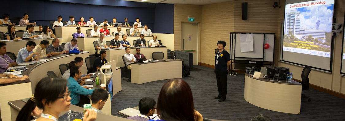 SinBeRISE Program Leader Connie Chang-Hasnain has led a talk at the Annual Workshop.