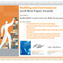 2018 Building and Environment Best Paper Awards